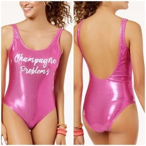 California Waves one piece pink Swimsuit